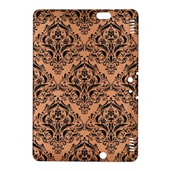 Damask1 Black Marble & Natural Red Birch Wood (r) Kindle Fire Hdx 8 9  Hardshell Case by trendistuff