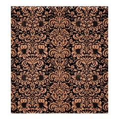 Damask2 Black Marble & Natural Red Birch Wood Shower Curtain 66  X 72  (large)  by trendistuff