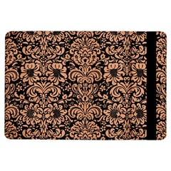 Damask2 Black Marble & Natural Red Birch Wood Ipad Air Flip by trendistuff