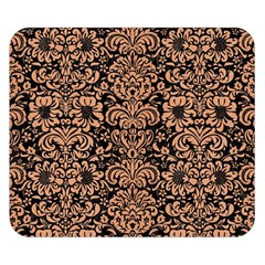 Damask2 Black Marble & Natural Red Birch Wood Double Sided Flano Blanket (small)  by trendistuff