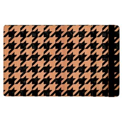 Houndstooth1 Black Marble & Natural Red Birch Wood Apple Ipad 3/4 Flip Case by trendistuff