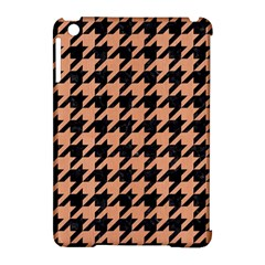Houndstooth1 Black Marble & Natural Red Birch Wood Apple Ipad Mini Hardshell Case (compatible With Smart Cover) by trendistuff