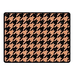 Houndstooth1 Black Marble & Natural Red Birch Wood Double Sided Fleece Blanket (small)  by trendistuff