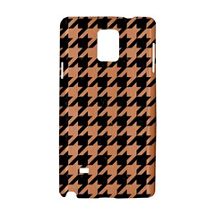 Houndstooth1 Black Marble & Natural Red Birch Wood Samsung Galaxy Note 4 Hardshell Case by trendistuff