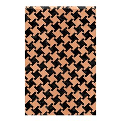 Houndstooth2 Black Marble & Natural Red Birch Wood Shower Curtain 48  X 72  (small)  by trendistuff