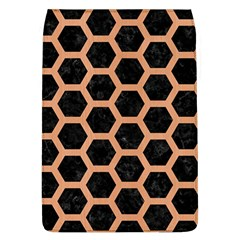 Hexagon2 Black Marble & Natural Red Birch Wood Flap Covers (l)  by trendistuff