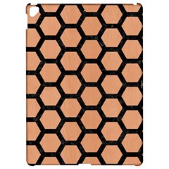 Hexagon2 Black Marble & Natural Red Birch Wood (r) Apple Ipad Pro 12 9   Hardshell Case by trendistuff