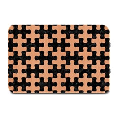 Puzzle1 Black Marble & Natural Red Birch Wood Plate Mats by trendistuff