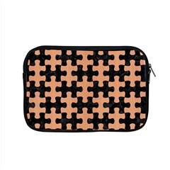 Puzzle1 Black Marble & Natural Red Birch Wood Apple Macbook Pro 15  Zipper Case by trendistuff