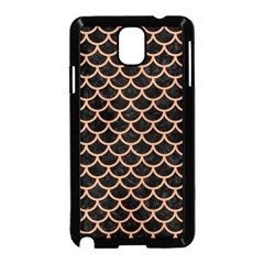 Scales1 Black Marble & Natural Red Birch Wood Samsung Galaxy Note 3 Neo Hardshell Case (black) by trendistuff
