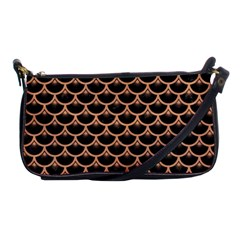 Scales3 Black Marble & Natural Red Birch Wood Shoulder Clutch Bags by trendistuff