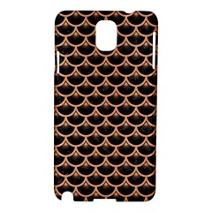 Scales3 Black Marble & Natural Red Birch Wood Samsung Galaxy Note 3 N9005 Hardshell Case by trendistuff