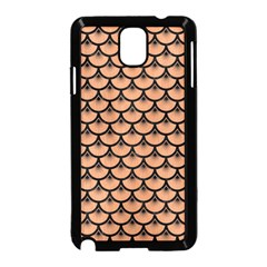 Scales3 Black Marble & Natural Red Birch Wood (r) Samsung Galaxy Note 3 Neo Hardshell Case (black) by trendistuff