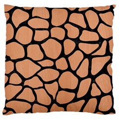 Skin1 Black Marble & Natural Red Birch Wood Large Cushion Case (two Sides) by trendistuff