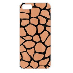 Skin1 Black Marble & Natural Red Birch Wood Apple Iphone 5 Seamless Case (white) by trendistuff