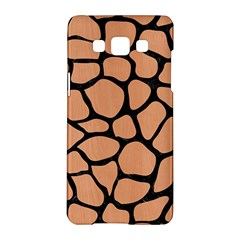 Skin1 Black Marble & Natural Red Birch Wood Samsung Galaxy A5 Hardshell Case  by trendistuff