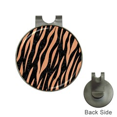 Skin3 Black Marble & Natural Red Birch Wood Hat Clips With Golf Markers