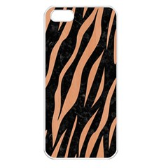Skin3 Black Marble & Natural Red Birch Wood Apple Iphone 5 Seamless Case (white) by trendistuff