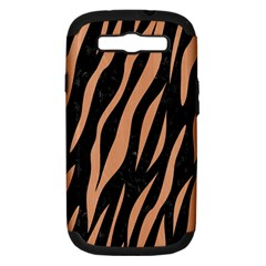 Skin3 Black Marble & Natural Red Birch Wood Samsung Galaxy S Iii Hardshell Case (pc+silicone) by trendistuff