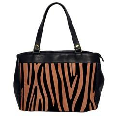 Skin4 Black Marble & Natural Red Birch Wood (r) Office Handbags by trendistuff