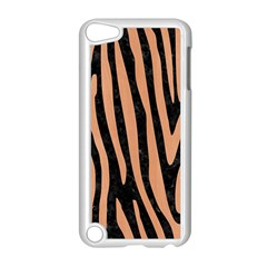 Skin4 Black Marble & Natural Red Birch Wood (r) Apple Ipod Touch 5 Case (white) by trendistuff