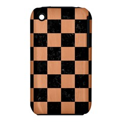 Square1 Black Marble & Natural Red Birch Wood Iphone 3s/3gs by trendistuff