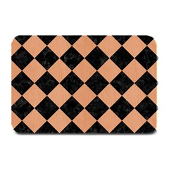 Square2 Black Marble & Natural Red Birch Wood Plate Mats by trendistuff