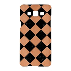 Square2 Black Marble & Natural Red Birch Wood Samsung Galaxy A5 Hardshell Case  by trendistuff
