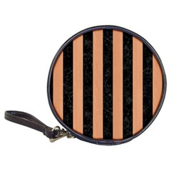 Stripes1 Black Marble & Natural Red Birch Wood Classic 20 Cd Wallets by trendistuff