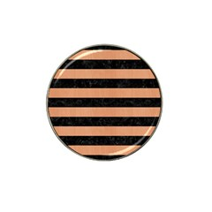 Stripes2 Black Marble & Natural Red Birch Wood Hat Clip Ball Marker (10 Pack) by trendistuff