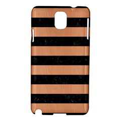 Stripes2 Black Marble & Natural Red Birch Wood Samsung Galaxy Note 3 N9005 Hardshell Case by trendistuff
