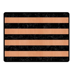 Stripes2 Black Marble & Natural Red Birch Wood Double Sided Fleece Blanket (small)  by trendistuff