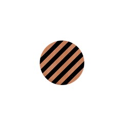 Stripes3 Black Marble & Natural Red Birch Wood 1  Mini Magnets by trendistuff