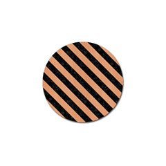 Stripes3 Black Marble & Natural Red Birch Wood (r) Golf Ball Marker (10 Pack) by trendistuff