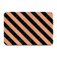 Stripes3 Black Marble & Natural Red Birch Wood (r) Plate Mats by trendistuff