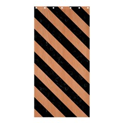 Stripes3 Black Marble & Natural Red Birch Wood (r) Shower Curtain 36  X 72  (stall)  by trendistuff