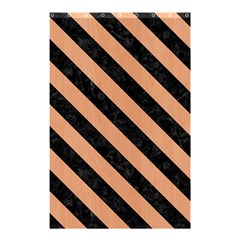 Stripes3 Black Marble & Natural Red Birch Wood (r) Shower Curtain 48  X 72  (small)  by trendistuff