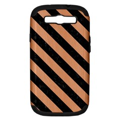 Stripes3 Black Marble & Natural Red Birch Wood (r) Samsung Galaxy S Iii Hardshell Case (pc+silicone) by trendistuff