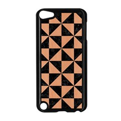 Triangle1 Black Marble & Natural Red Birch Wood Apple Ipod Touch 5 Case (black) by trendistuff