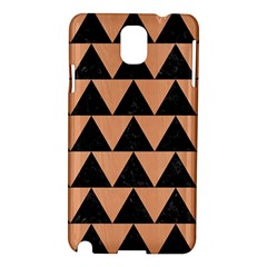 Triangle2 Black Marble & Natural Red Birch Wood Samsung Galaxy Note 3 N9005 Hardshell Case by trendistuff