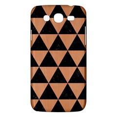 Triangle3 Black Marble & Natural Red Birch Wood Samsung Galaxy Mega 5 8 I9152 Hardshell Case  by trendistuff