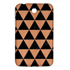 Triangle3 Black Marble & Natural Red Birch Wood Samsung Galaxy Tab 3 (7 ) P3200 Hardshell Case