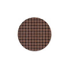 Woven1 Black Marble & Natural Red Birch Wood Golf Ball Marker (10 Pack) by trendistuff