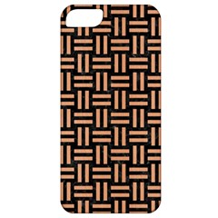 Woven1 Black Marble & Natural Red Birch Wood Apple Iphone 5 Classic Hardshell Case by trendistuff