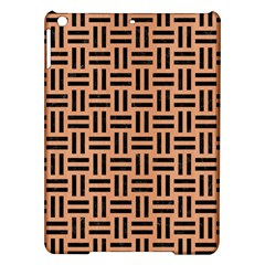 Woven1 Black Marble & Natural Red Birch Wood (r) Ipad Air Hardshell Cases by trendistuff