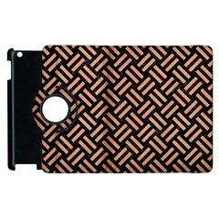 Woven2 Black Marble & Natural Red Birch Wood Apple Ipad 3/4 Flip 360 Case by trendistuff