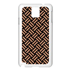 Woven2 Black Marble & Natural Red Birch Wood Samsung Galaxy Note 3 N9005 Case (white) by trendistuff