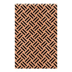 Woven2 Black Marble & Natural Red Birch Wood (r) Shower Curtain 48  X 72  (small)  by trendistuff