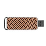 WOVEN2 BLACK MARBLE & NATURAL RED BIRCH WOOD (R) Portable USB Flash (Two Sides) Front
