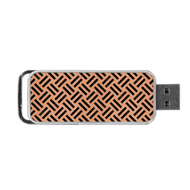 WOVEN2 BLACK MARBLE & NATURAL RED BIRCH WOOD (R) Portable USB Flash (Two Sides)